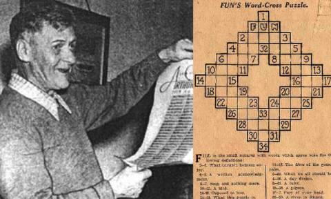 Σαν σήμερα το 1913 τυπώνεται το πρώτο σταυρόλεξο στον κόσμο