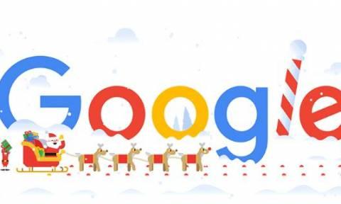 Καλές γιορτές! Οι ευχές της Google μέσα από ένα doodle