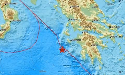 Σεισμός: Μετασεισμική δόνηση νοτιοδυτικά της Ζακύνθου (pics)