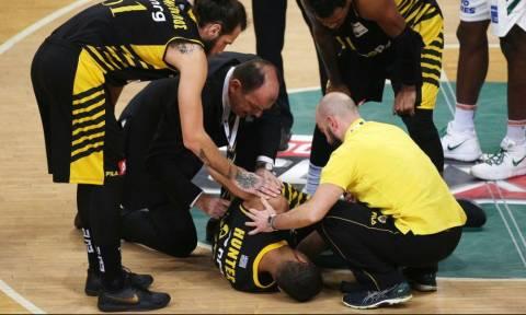 Ο τραυματισμός του παίκτη της ΑΕΚ που «πάγωσε» το ΟΑΚΑ (photos)