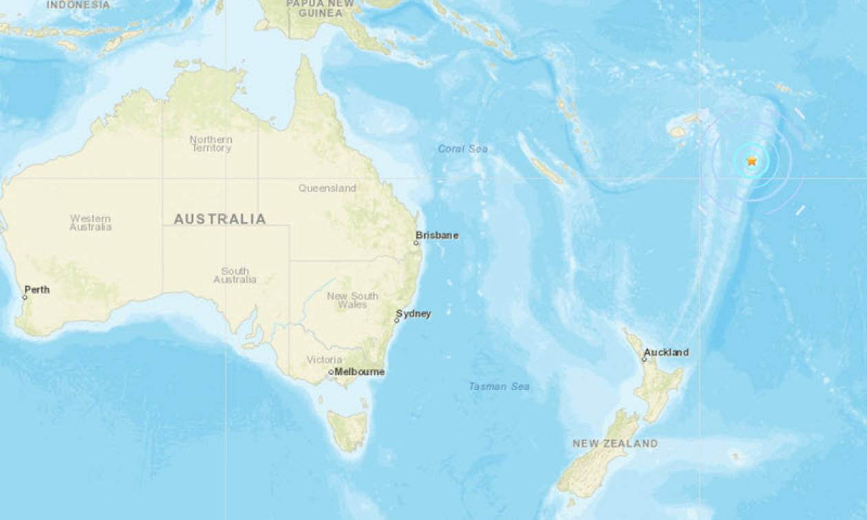Ισχυρός σεισμός στα νησιά Τόνγκα στον Ειρηνικό Ωκεανό