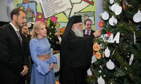 Ο Αρχιεπίσκοπος Ιερώνυμος στην Ογκολογική Μονάδα Παίδων «Μαριάννα Βαρδινογιάννη – Ελπίδα»