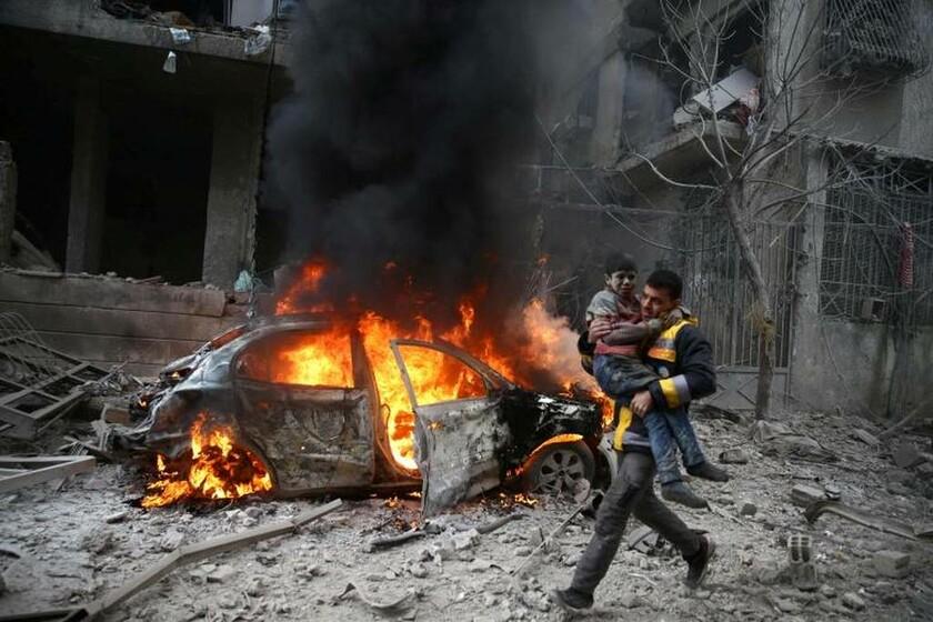 6 Ιανουαρίου - Συρία: Τρέχουν να σωθούν στη Δαμασκό