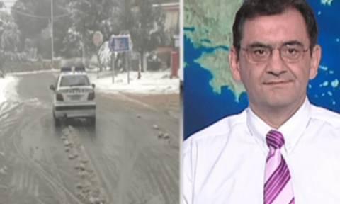 Καιρός: Πού θα ενταθούν οι χιονοπτώσεις τις νυχτερινές ώρες; Η ενημέρωση του Θοδωρή Κολυδά (video)