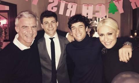 Μαρία Μπακοδήμου: Χριστούγεννα με τον πρώην σύζυγό της και τα παιδιά τους