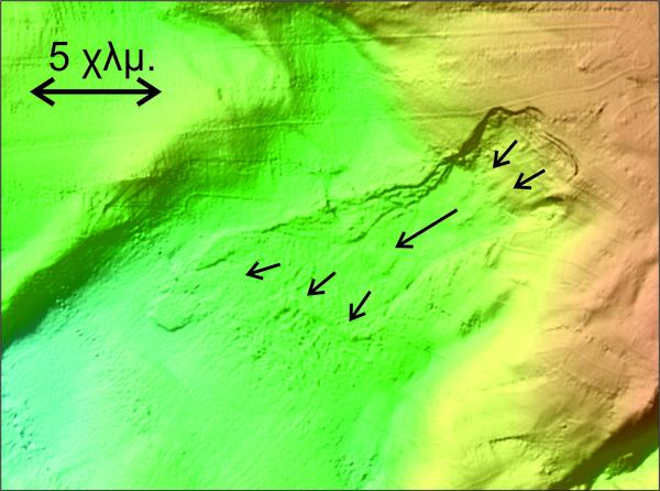 Βυθομετρική αποτύπωση υποθαλάσσιας κατολίσθησης στο Βόρειο Αιγαίο 1