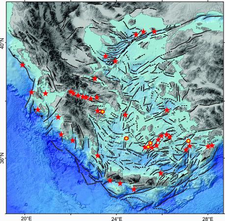 Ενεργά ρήγματα κατολισθήσεις στον βυθό των Ελληνικών θαλασσών