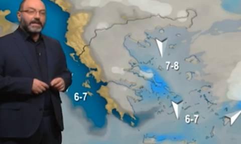 Σάκης Αρναούτογλου: Με κρύο και λίγα χιόνια η Πρωτοχρονιά, περισσότερο κρύο από τις 3 Γενάρη (Vid)