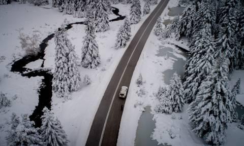 Καλυμμένο από χιόνια το 8% της Ελλάδας μια μέρα μετά τα Χριστούγεννα – Δείτε τον χάρτη
