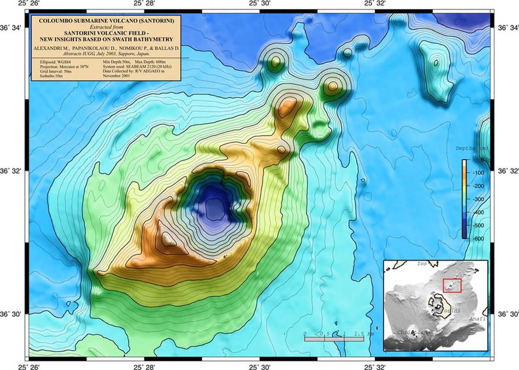 Η NASA θα μελετήσει το υποθαλάσσιο ηφαίστειο Κολούμπος στη Σαντορίνη