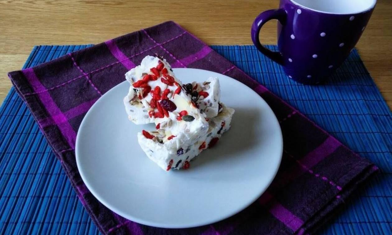 Η συνταγή της ημέρας: Μπάρες γιαουρτιού με superfoods