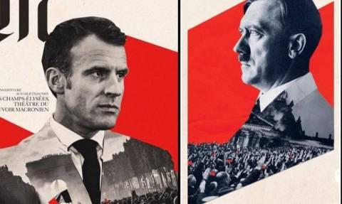 Σάλος στη Γαλλία: Εξώφυλλο της Le Monde παρομοιάζει τον Μακρόν με τον Χίτλερ (Pic)