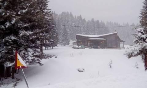 Καιρός: Χιονοπτώσεις στα ορεινά του νομού Καρδίτσας - Ανοιχτοί οι δρόμοι (pics)