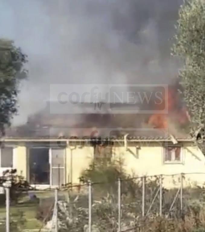 Τραγωδία στην Κέρκυρα: Νεκρή γυναίκα εντοπίστηκε σε φλεγόμενο σπίτι