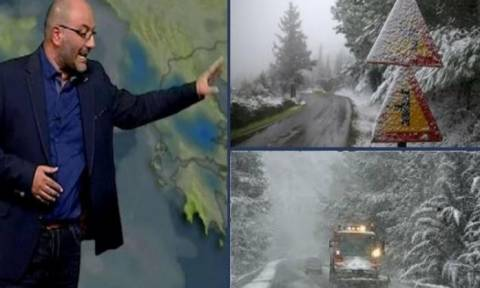 Καιρός: Πού θα χιονίζει από την Πέμπτη; Η ανάλυση του Σάκη Αρναούτογλου (video)