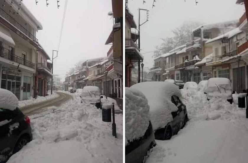 Καιρός: Εκπληκτικές εικόνες από τον χιονισμένο Δομοκό (pics)