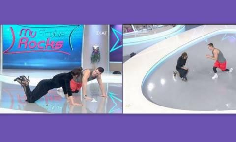 My style rocks: Απίστευτο! Η Μαγγίρα έκανε push-ups on air με τα ψηλοτάκουνα!