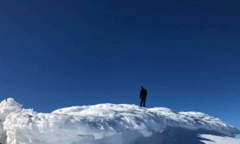 Καιρός: Μαγευτικές εικόνες στην κορυφή του Ψηλορείτη (pics)