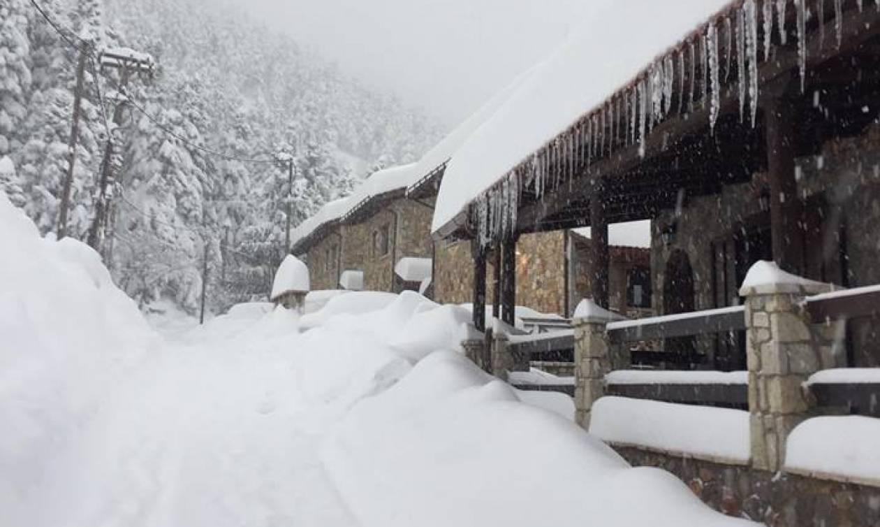 Καιρός: Σε αυτές τις περιοχές της Ελλάδας έπεσε το περισσότερο χιόνι τις τελευταίες ώρες