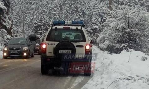 Καιρός: Καραμπόλα 20 οχημάτων στα χιονισμένα Καλάβρυτα (pics)