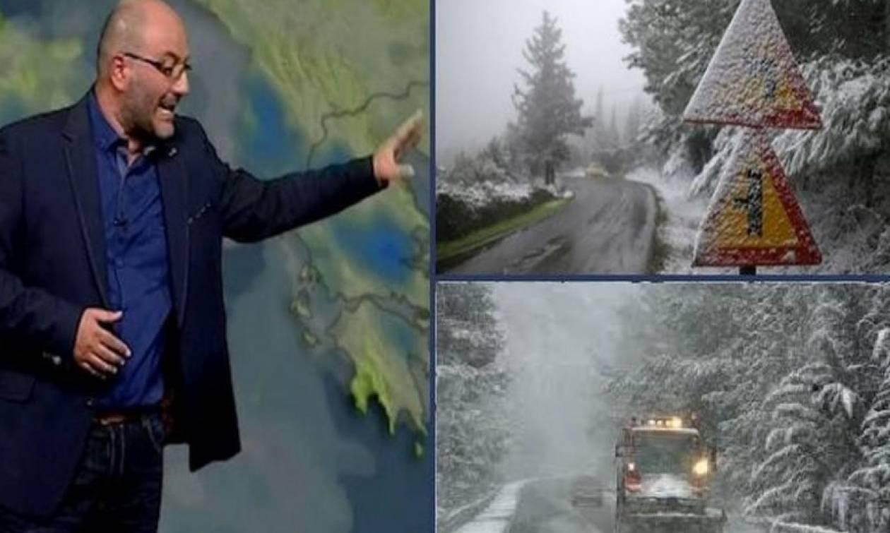 Καιρός: Ερχονται δύο χιονιάδες... Η νέα ενημέρωση του Σάκη Αρναούτογλου για Αττική και Θεσσαλονίκη