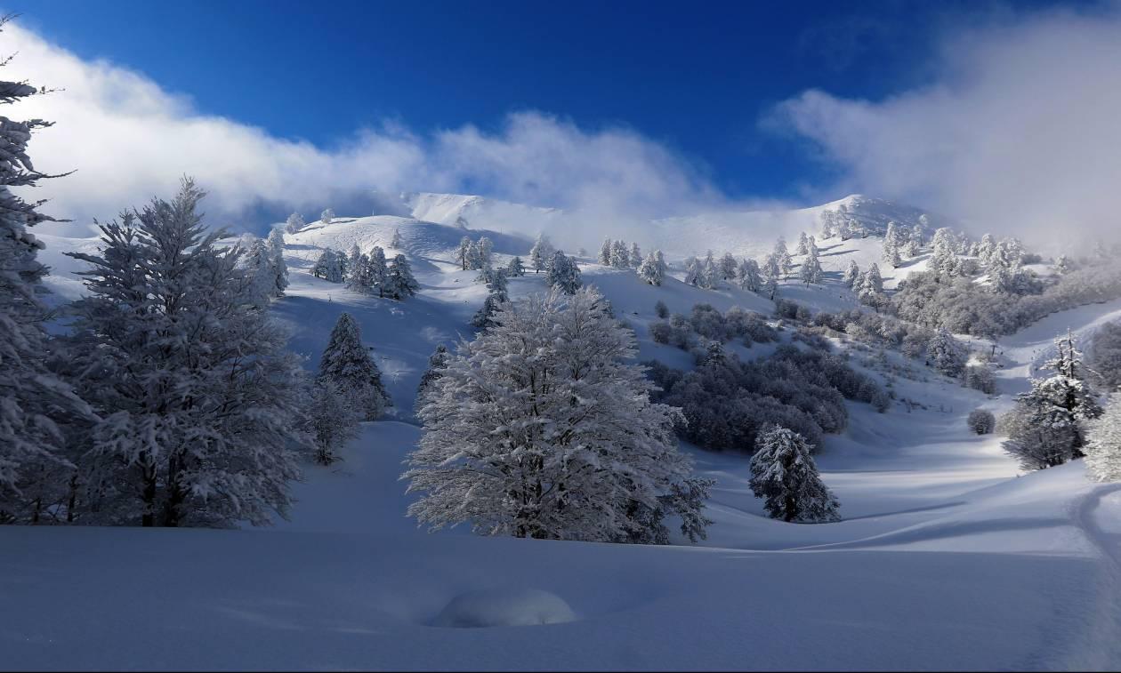Υπέροχες φωτογραφίες από το χιονοδρομικό κέντρο της Βασιλίτσας