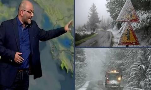 Καιρός: Εκτακτη προειδοποίηση Σάκη Αρναούτογλου: Χιόνια τη Δευτέρα στην Αθήνα, μέχρι τη θάλασσα...