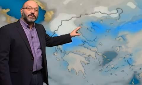 Καιρός: Πυκνές χιονοπτώσεις τη Δευτέρα και σε όλη την Αττική! Η ανάλυση του Σάκη Αρναούτογλου (Vid)