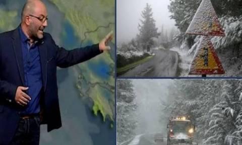 Προσοχή! Η έκτακτη προειδοποίηση του Σάκη Αρναούτογλου για τις απογευματινές χιονοπτώσεις...
