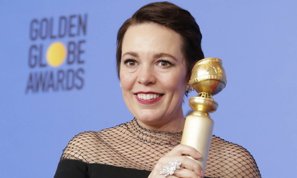 Actress Olivia Colman wins Golden Globe for her role in Lanthimos film 'The Favourite'