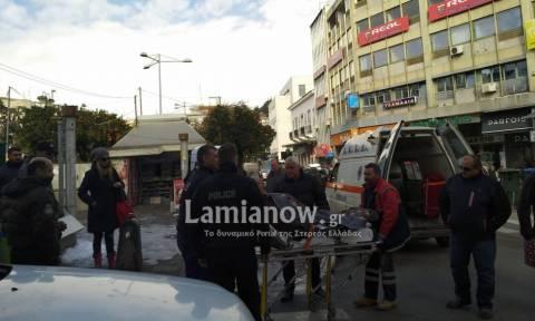 Λαμία: Ηλικιωμένος μεταφέρθηκε αιμόφυρτος στο νοσοκομείο (pics)