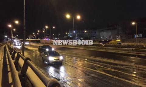 Κακοκαιρία: Απίστευτα πράγματα - Έχασαν την Εθνική Αθηνών - Λαμίας με 1 πόντο χιόνι