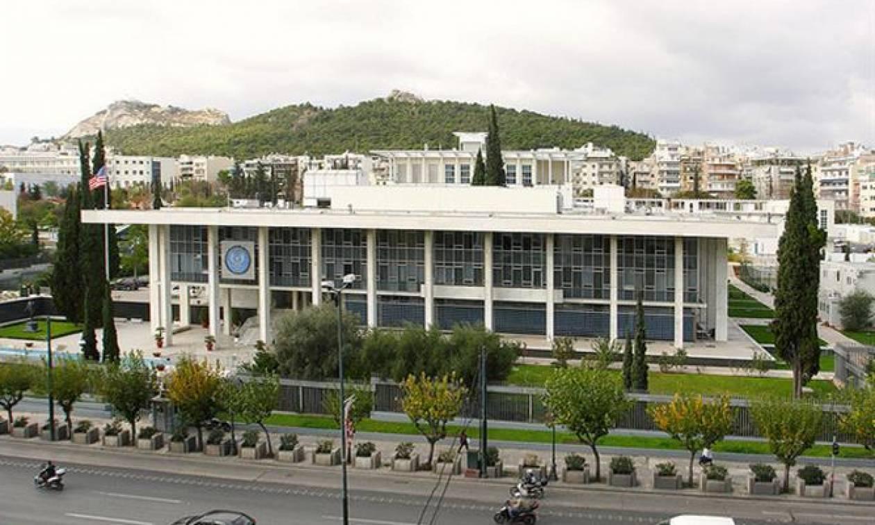 На посольство США в Афинах совершено нападение