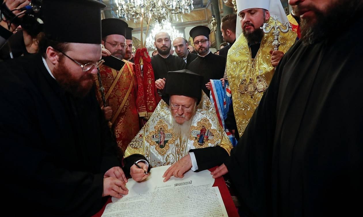 Томос об автокефалии украинской церкви вернется в Стамбул для подписания синодом
