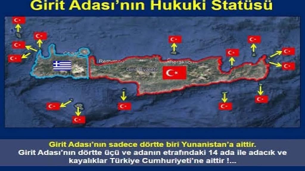 Αθλιότητα δίχως τέλος από τους Τούρκους: «Η Κρήτη είναι δική μας» (ΧΑΡΤΗΣ)