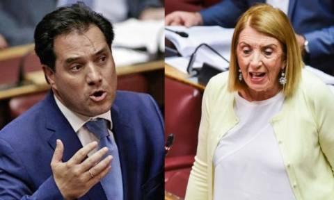 Υπόθεση Novartis:  Άγριος καβγάς Γεωργιάδη -  Χριστοδουλοπούλου στη Βουλή με βαρείς χαρακτηρισμούς