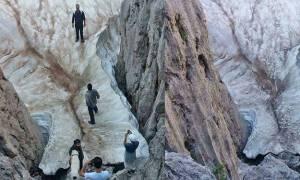 Το Σπηλαιοβάραθρο της Κρήτης όπου το χιόνι δεν λιώνει ποτέ (vid)