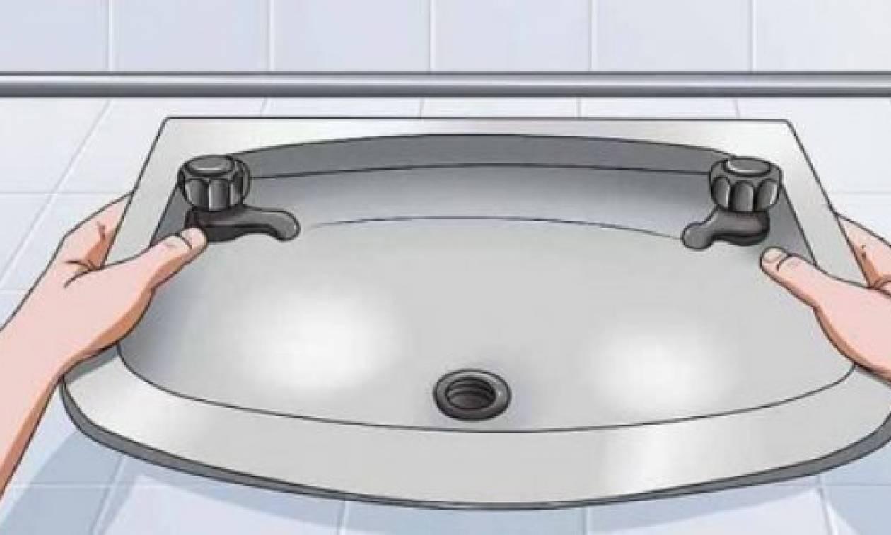 Το κόλπο που θα ξεβουλώσει τα σιφόνια του μπάνιου από τις τρίχες!