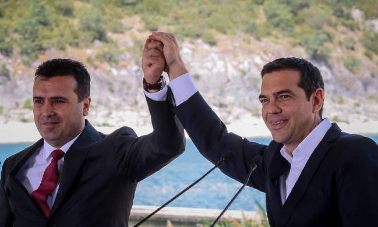PM Tsipras congratulates Zaev over Prespes Agreement vote