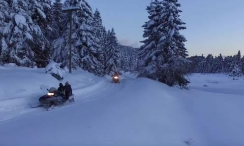 Καιρός: Αλπικό τοπίο το Περτούλι! Κι άσε τους άλλους να τρέχουν στην Ελβετία... (Video)