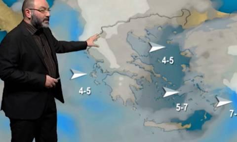 Καιρός: Πού θα χιονίσει Κυριακή και Δευτέρα; Η ανάλυση του Σάκη Αρναούτογλου (video)