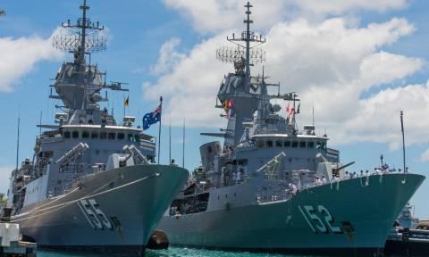 Αυστραλία: Φρεγάτα που Πολεμικού Ναυτικού κατέσχεσε 3,1 τόνους χασίς