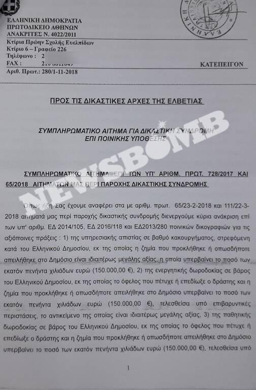 Αποκάλυψη Newsbomb.gr για Παπαντωνίου: Οι μίζες έπεφταν... βροχή