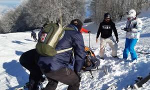 Σκιέρ τραυματίστηκαν στο Χιονοδρομικό Κέντρο Πηλίου (pics)