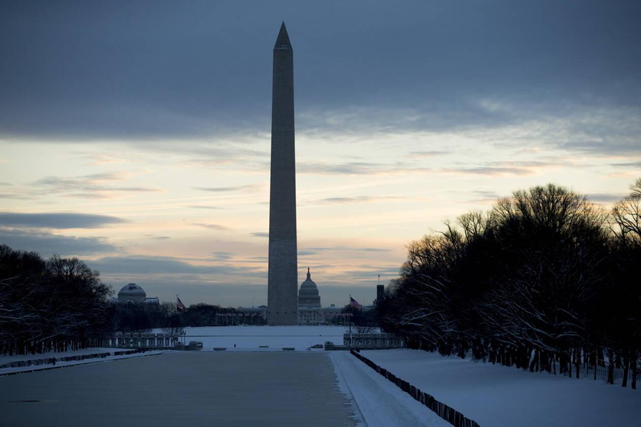 Η χιονισμένη Ουάσινγκτον