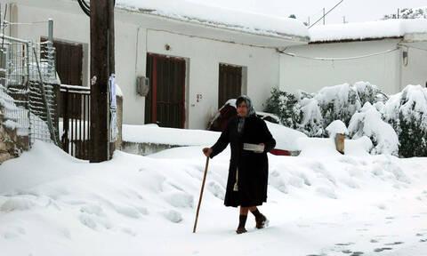 Μαγευτικό ταξίδι στα χιονισμένα τοπία της Κρήτης (pics)