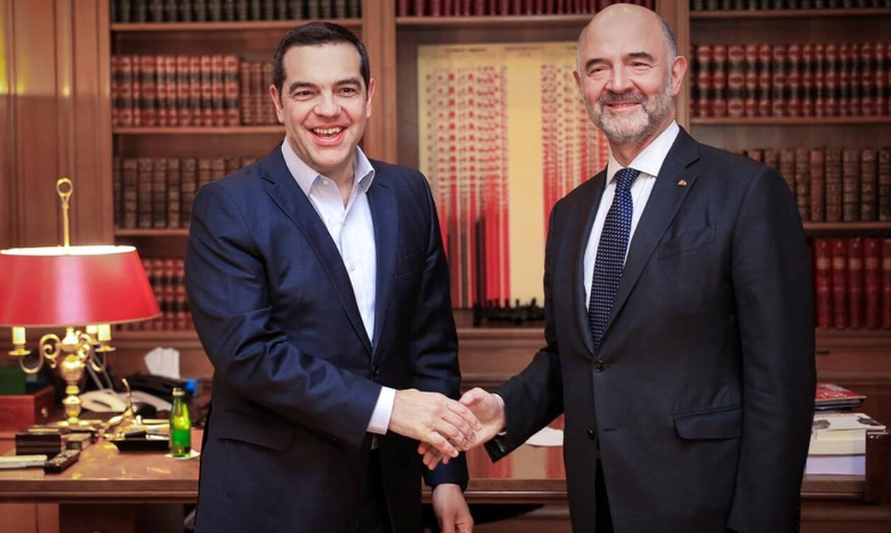 Μοσκοβισί σε Τσίπρα: Η Ελλάδα επιστρέφει στην καθημερινότητα