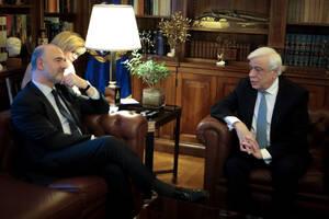 Παυλόπουλος σε Μοσκοβισί: Οι Θεσμοί δεν επέδειξαν την αλληλεγγύη που έπρεπε προς την Ελλάδα