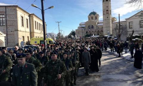 Κοζάνη: Πλήθος κόσμου στην εξόδιο ακολουθία του μακαριστού Μητροπολίτη Σιάτιστας Παύλου