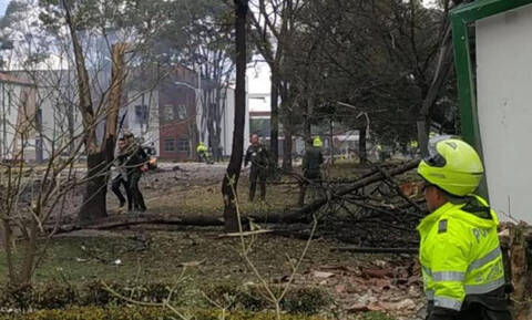 Ισχυρή έκρηξη στη σχολή της αστυνομίας στην Μπογοτά - Τουλάχιστον εννέα νεκροί (Vid)